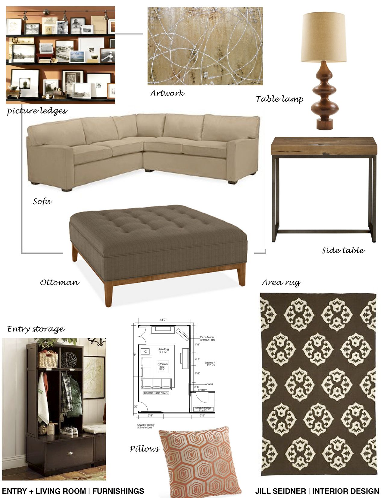 Furnishings Concept Board For Living Room With Images