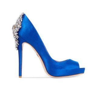 something blue for your wedding dress   Badgley Mischka Kiara Platform Evening Pumps