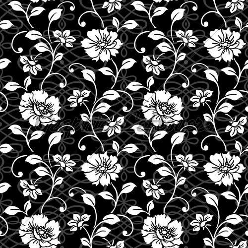 Vector Repeating Floral And Swirl Pattern Gl Stock Images