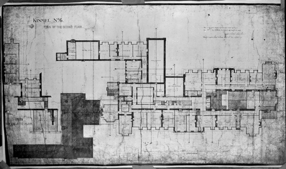 1870 Second Floor Plan Kinmel Hall Wales Floor Plans Hall Flooring House Plans