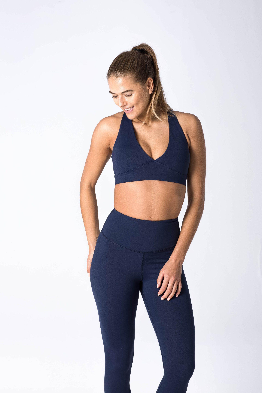 96b4482f419ee Luxe Crossover Bra - Indigo. $23 flexxfit | Fitness Shop | Bra ...
