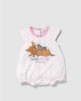 límpido a la vista fina artesanía bueno Pijama de bebé niña Disney de Bambi | CACHORONES MAMELUCOS Y ...