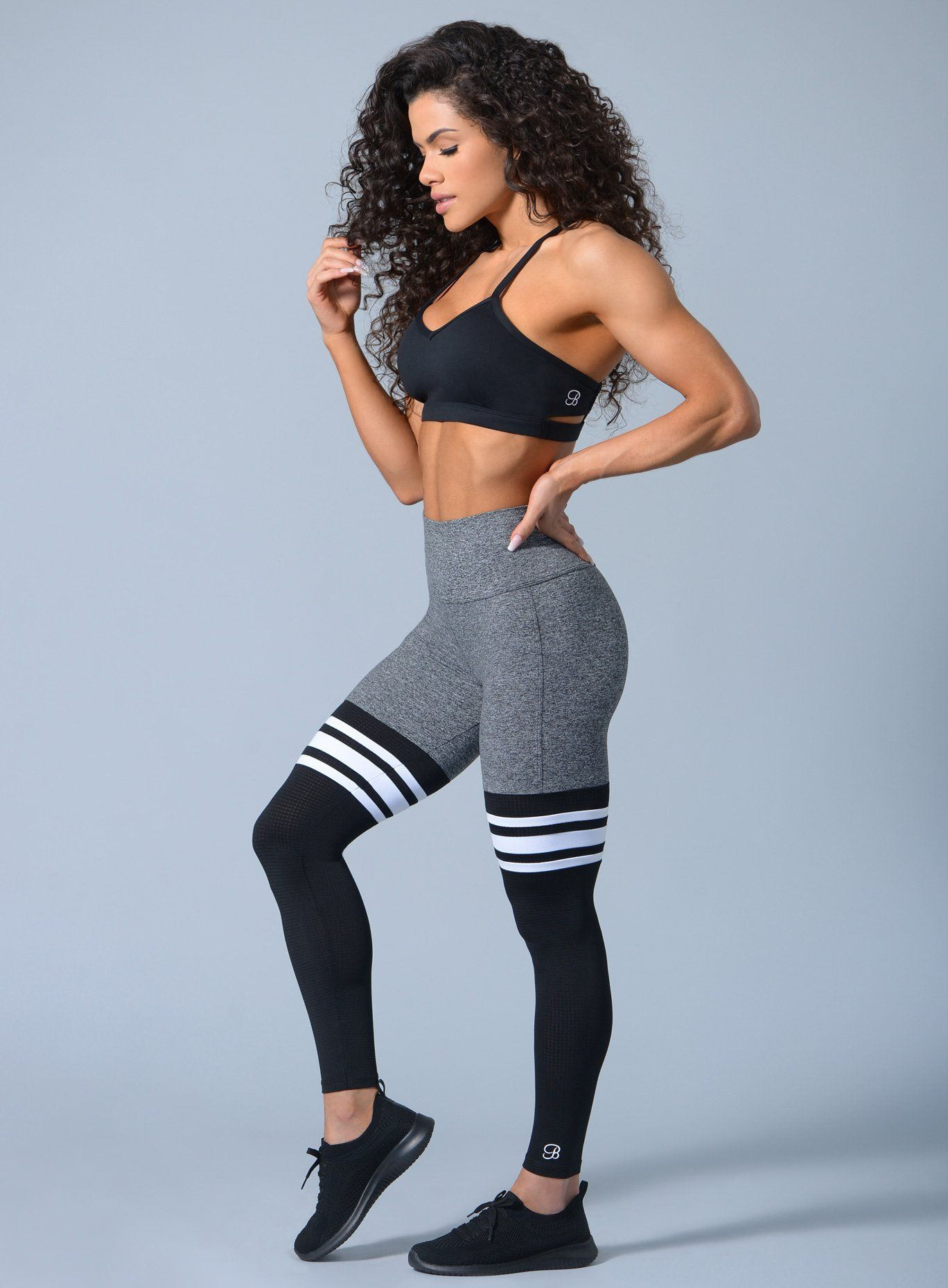 Thigh-Highs 'Heather' #stripedleggings