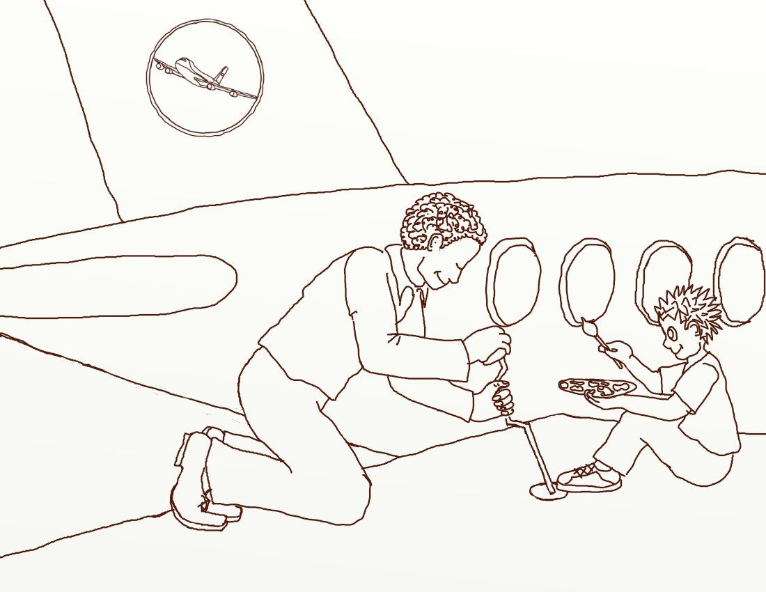 Print Out Another Coloring Page For Your Child Grandchild Of Aviation Careers See