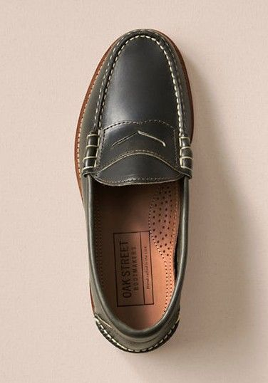 9f31b042b53 He ll love these Oak Street Bootmakers Olive Beefroll Penny Loafers. These  classic shoes are constructed from Horween Chromexcel leather and are as  durable ...