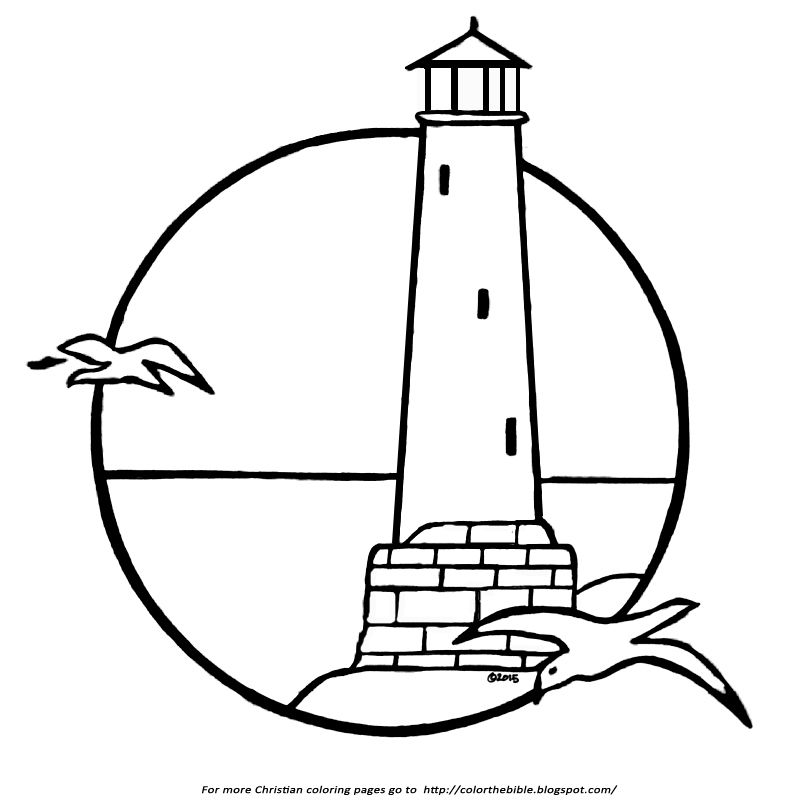 A Lighthouse Coloring Page | Color The Bible