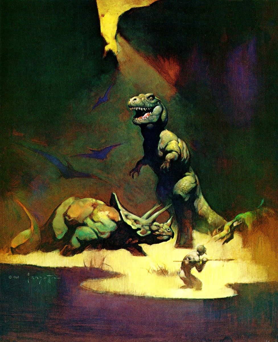 "1985 Full Color Plate /""Captured/"" by Frank Frazetta Fantastic GGA"