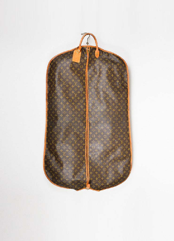 Brown and Tan Louis Vuitton Monogram Coated Canvas Leather Hanging Garment  Bag c39732107ed3a