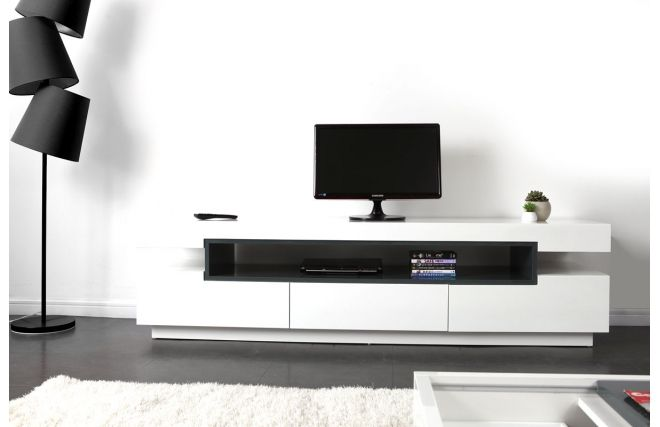 Mobile porta TV design laccato bianco LIVO   tvroom   Pinterest ...