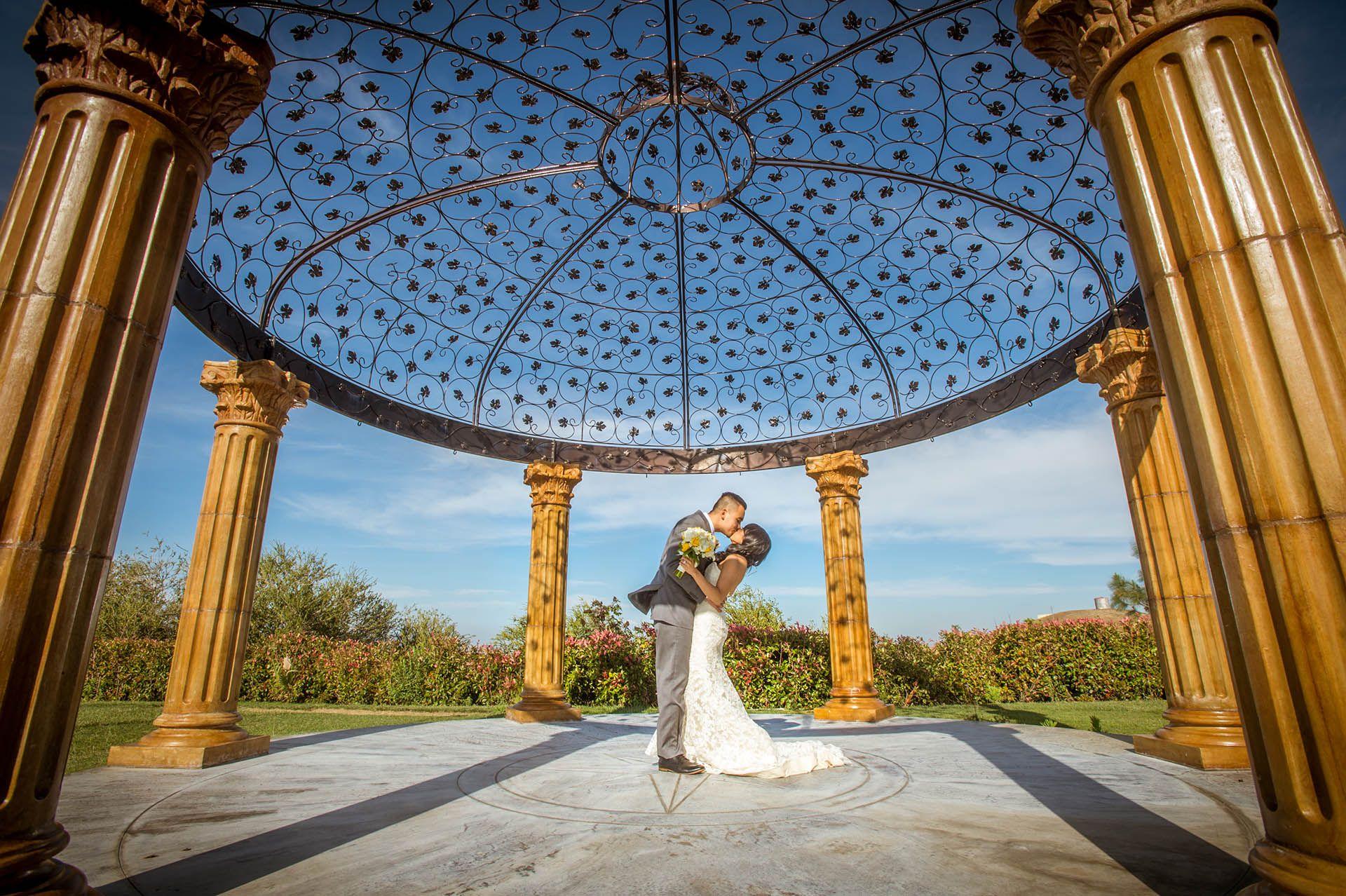 Gazebo for romantic portraits Estate wedding venue