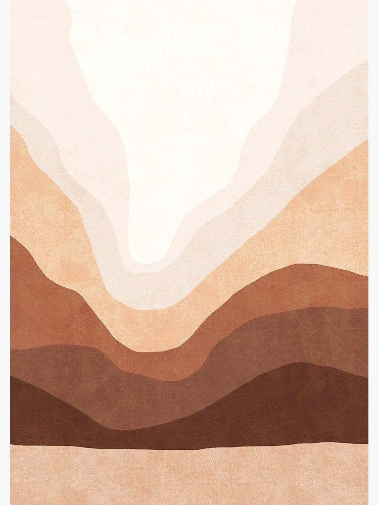 Ombre neutral mountain landscape Canvas Print