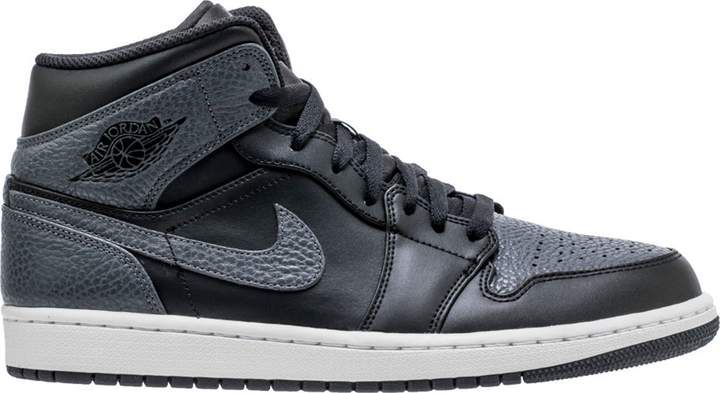 6dc2181ad28 Jordan 1 Retro Mid Black Dark Grey in 2019