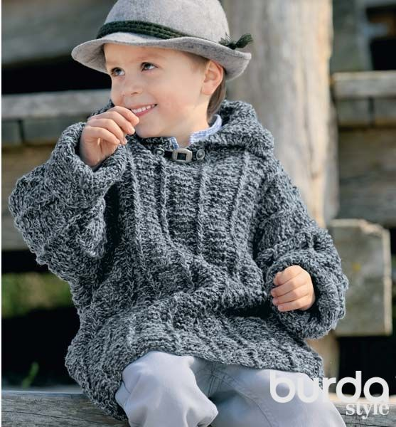 Схема вязания полувера для мальчика