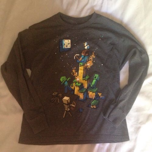 Boys Long Sleeve Gray Minecraft T-shirt Size M (10-12) https://t.co/u8mRUwCnf6 https://t.co/iGKxGIhmfa