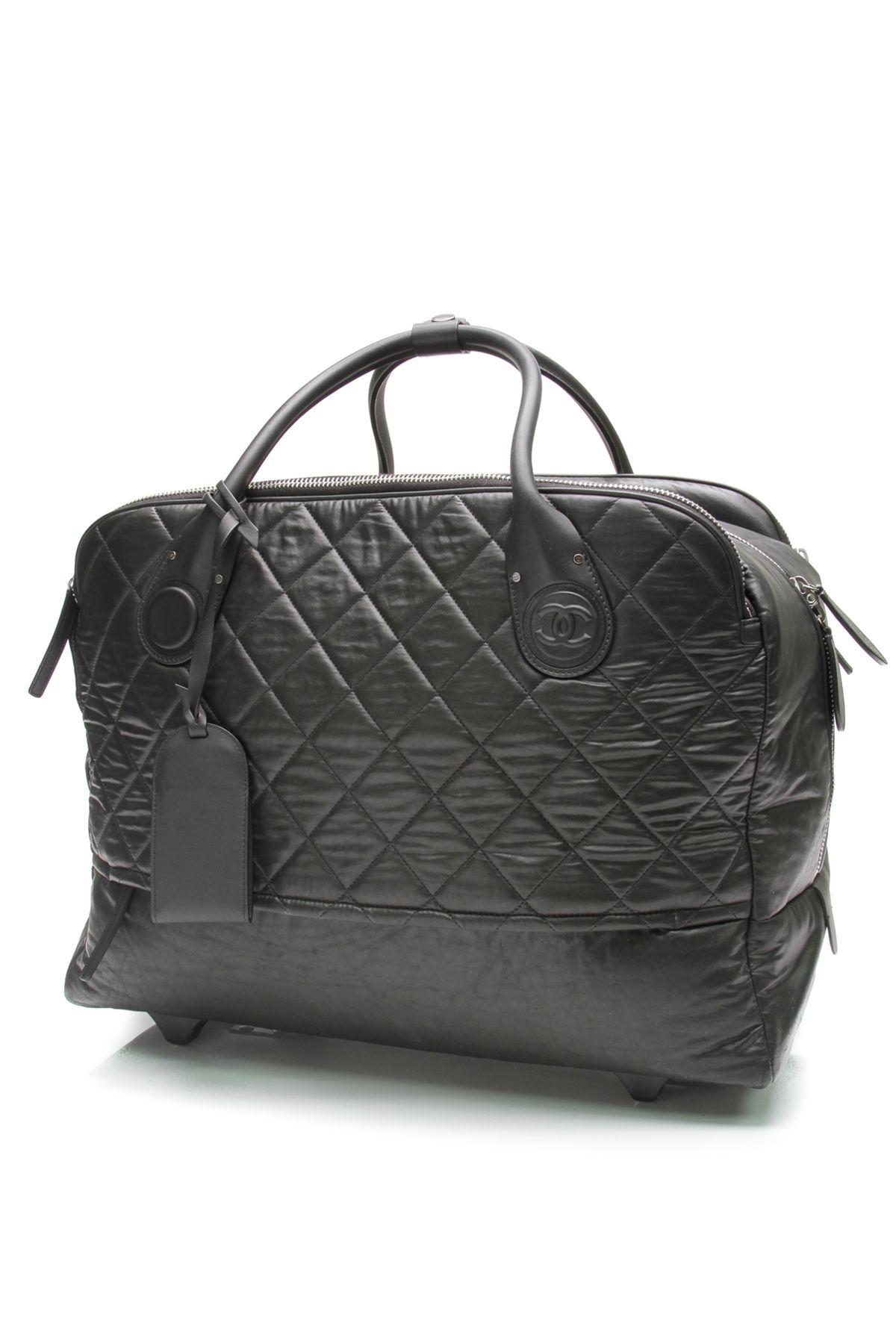 288a639492659a Chanel quilted nylon rolling luggage (our price: $2,519.99 ...