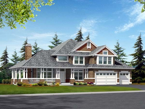 Craftsman Style House Plan 87612 With 4 Bed 4 Bath 3 Car Garage Craftsman Style House Plans Craftsman House Craftsman House Plan