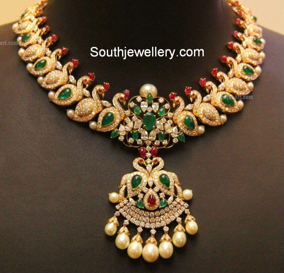 Diamond peacock mango necklace from kirtilalus jewelry pinterest