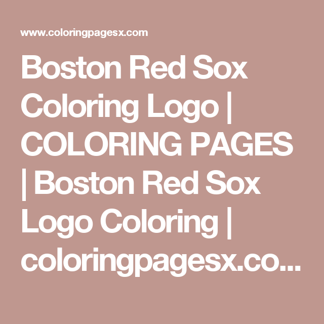 boston red sox coloring logo  coloring pages  boston red