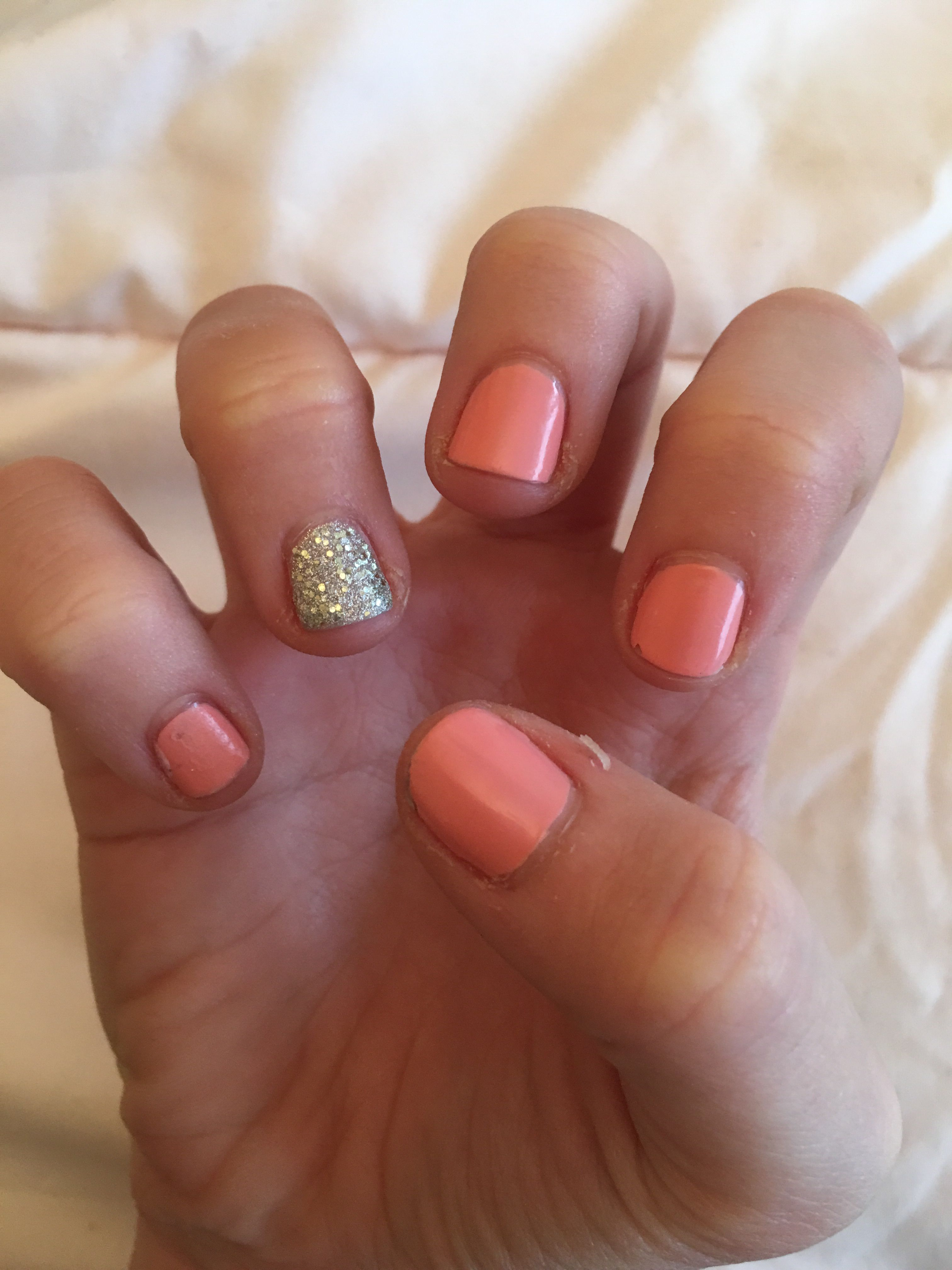 Love My New Nails So Cheap And I M Feeling The Summer Vibes These Are Normal Nail Polish But Feels Like Gel Short Nails X Nails Nail Polish Short Nails