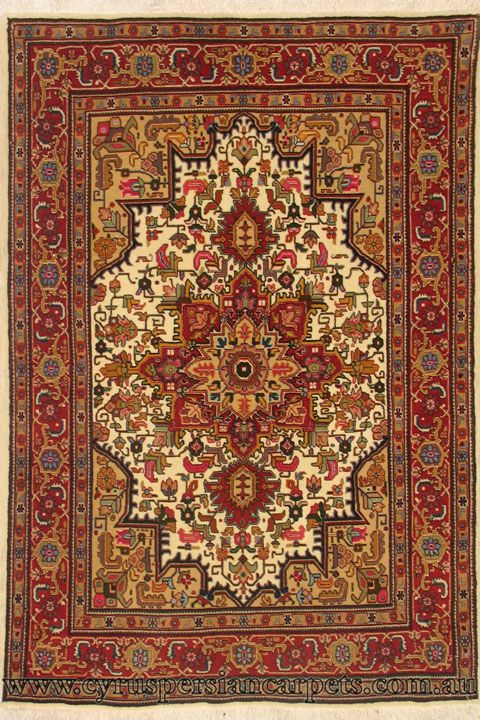 Tabriz Medallion Hand Knotted Wool Silk Rug Cyrus Persian Rugs And Carpets Modern Made Australia S Largest Online