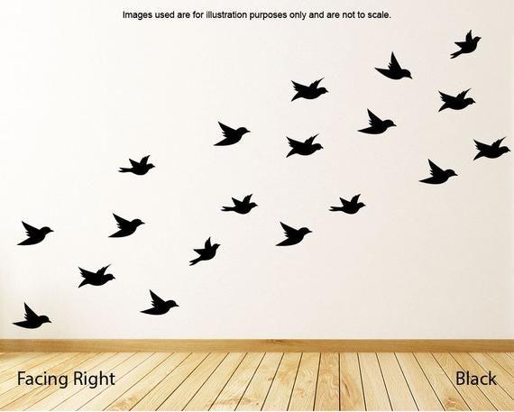 Bird118 FLYING BIRDS Reusable Stencil A3 A4 A5 Romantic Shabby Chic Craft DIY