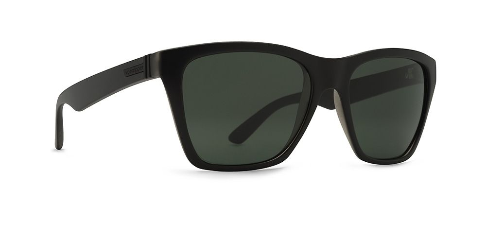 19a6207d96 VonZipper Booker Sunglasses in black satin with vintage grey lenses ...