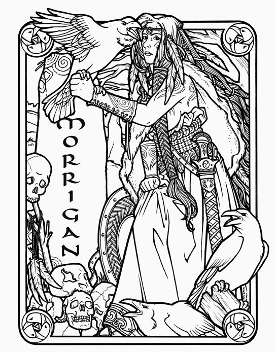 The Morrigan - Irish Celtic Goddess of Death by Renée Yates-McElwee ...