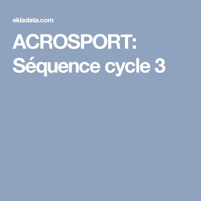 ACROSPORT: Séquence cycle 3 (ok)