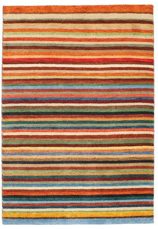 Multicoloured Gabbeh Indo Carpet KWXA135 191x133 Cm From India   Buy Your  Carpets At CarpetVista.