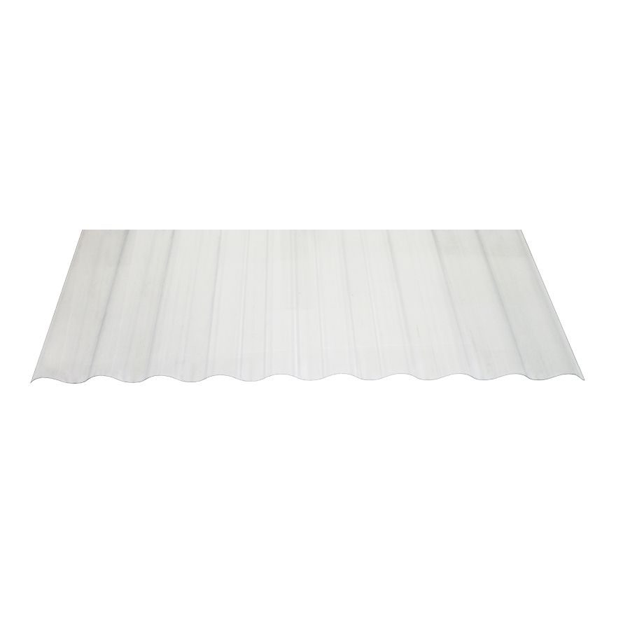 Tuftex Seacoaster 2 17 Ft X 12 Ft Corrugated Pvc Plastic Roof Panel Lowes Com In 2020 Roof Panels Corrugated Plastic Plastic Roof Tiles