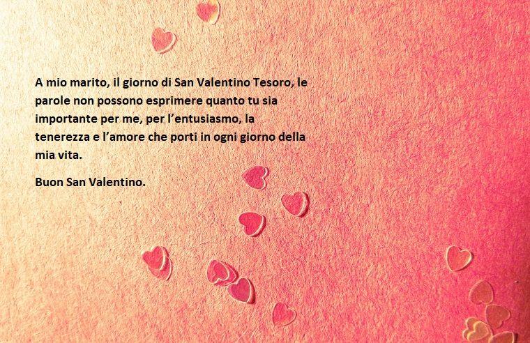 Frasi Amore Per Marito.Dedica Al Marito Per La Festa Di San Valentino Immagine Con Sfondo Rosa E Cuori San Valentino Valentino Festa Di San Valentino