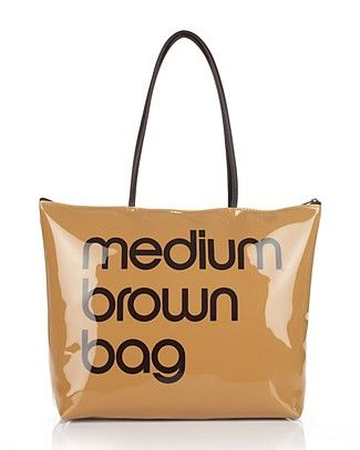 2fd035eb859 Bloomingdale's Zip Top Medium Brown Bag PRICE: $35.00 | Businesses I ...