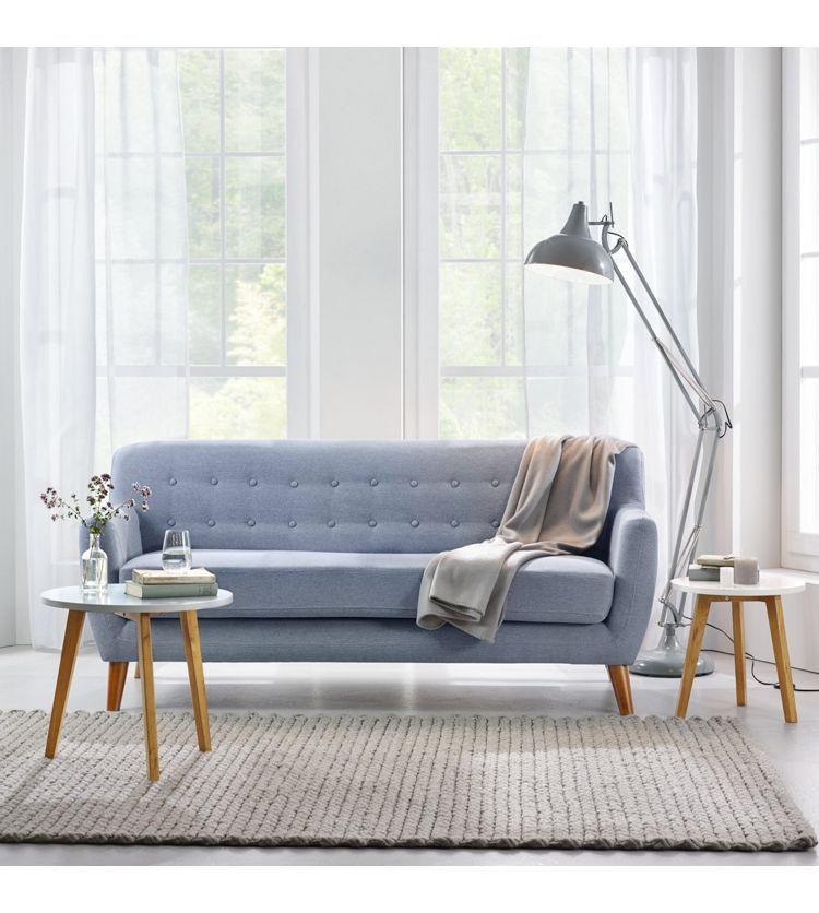 Hervorragend Sofa In Grau Xavier   Braun/Grau, Holz/Textil (176/81