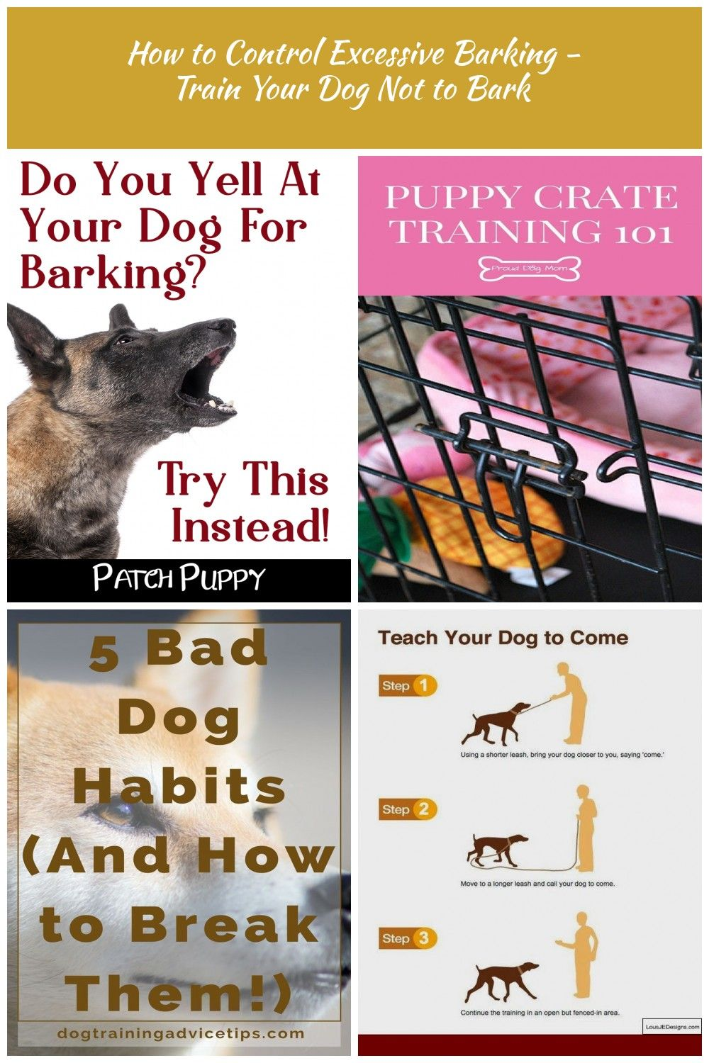 How To Control Excessive Dog Barking Dog Training How To Control
