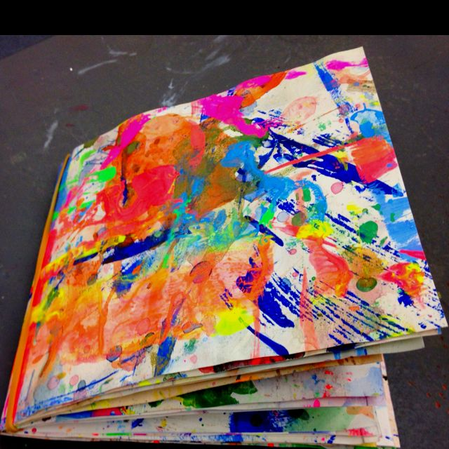 Journal/sketch book made from the old palettes
