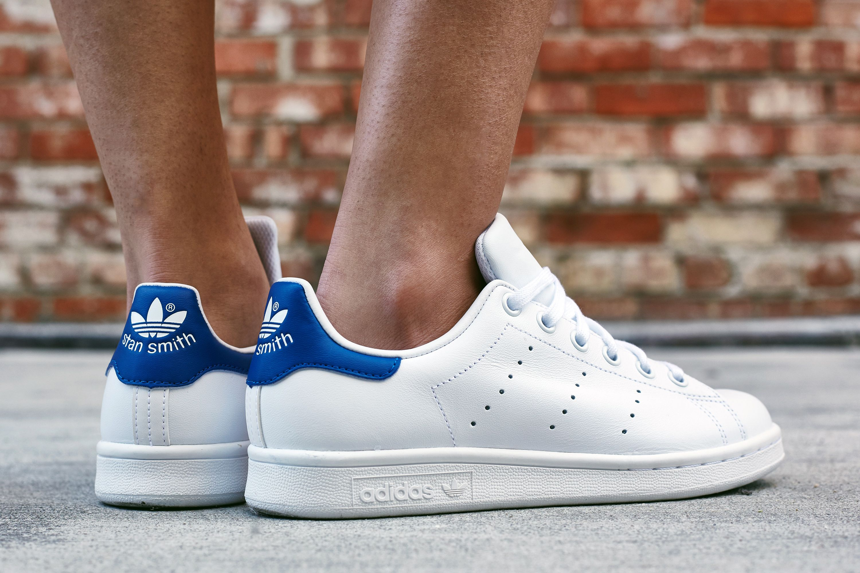 adidas Stan Smith White/Royal On-Foot Look | Shoes | Pinterest | Adidas  stan smith white, Stan smith white and Adidas stan smith