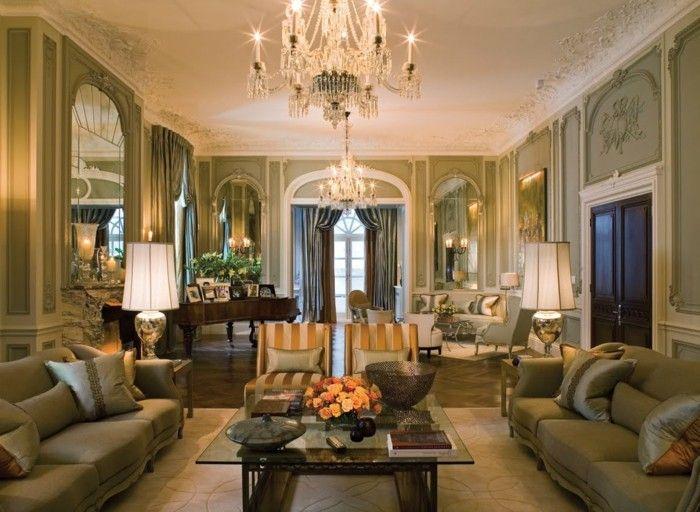 Wohnzimmer Einrichten Ideen Im Klassischen Stil Neutrale Farben Und Viel Gemtlichleit