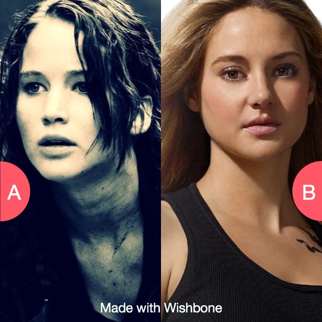 Katniss or Tris? Click here to vote @ http://getwishboneapp.com/share/639028