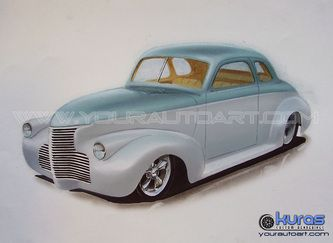 Hot Rod Art Car Drawing Art And Custom Vehicle Illustration