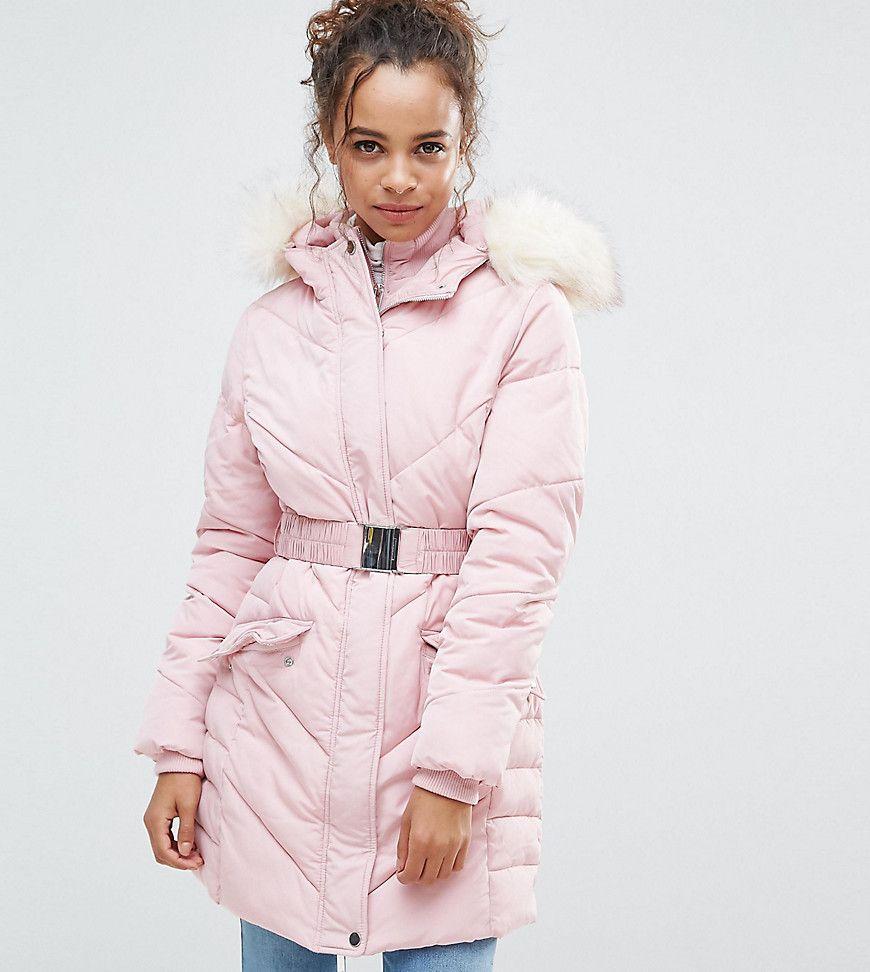 Miss Selfridge Petite - Wattierte Jacke mit Gürtel - Beige Jetzt bestellen  unter  https   mode.ladendirekt.de damen bekleidung jacken sonstige-jacken  uid   ... f68840ba58