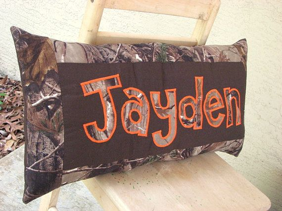 Personalized Name Pillow Tree Hunting Camo And By