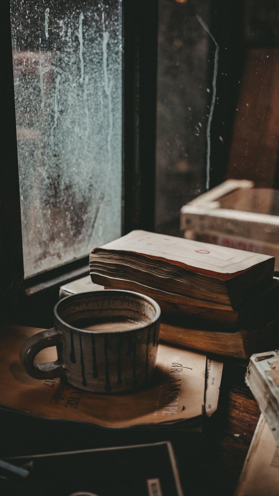Aesthetics Coffee Cafe Cafes Books Book Livres Livre Coffeeandbooks Cafeetlivres Chill Coffee Wallpaper Iphone Book Wallpaper October Wallpaper