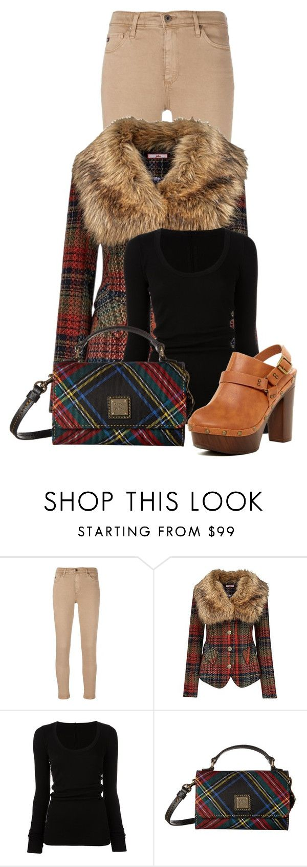 """""""Untitled #21415"""" by nanette-253 ❤ liked on Polyvore featuring AG Adriano Goldschmied, Joe Browns, DRKSHDW, Dooney & Bourke and Nature Breeze"""