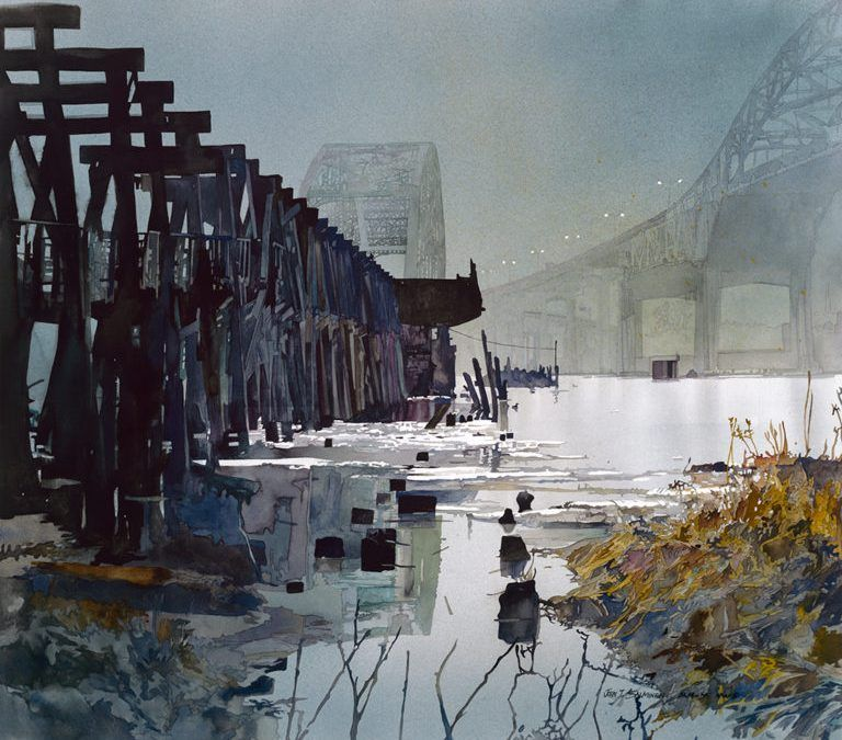 John salminen bridges watercolor watercolor architecture