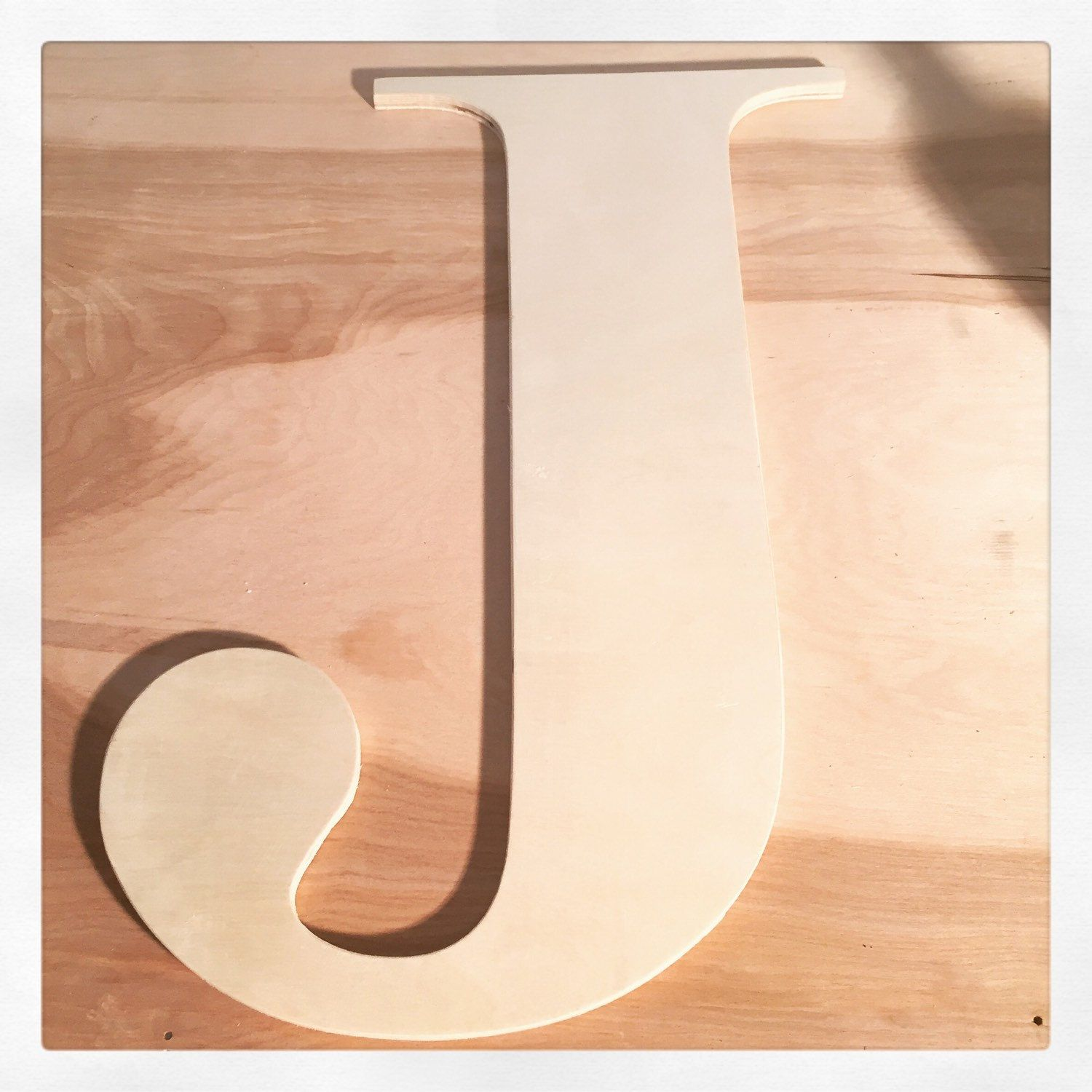 20 Inch Capital Letter Sanded But Unfinished For Your Unique