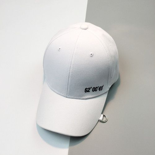 d6ff32f4afb86 HT1037 Wholesale Dad Hats New Korea Style Men Baseball Caps Solid Black  White Pink Snapback Cap Stylish Rings Hip Hop Caps Women