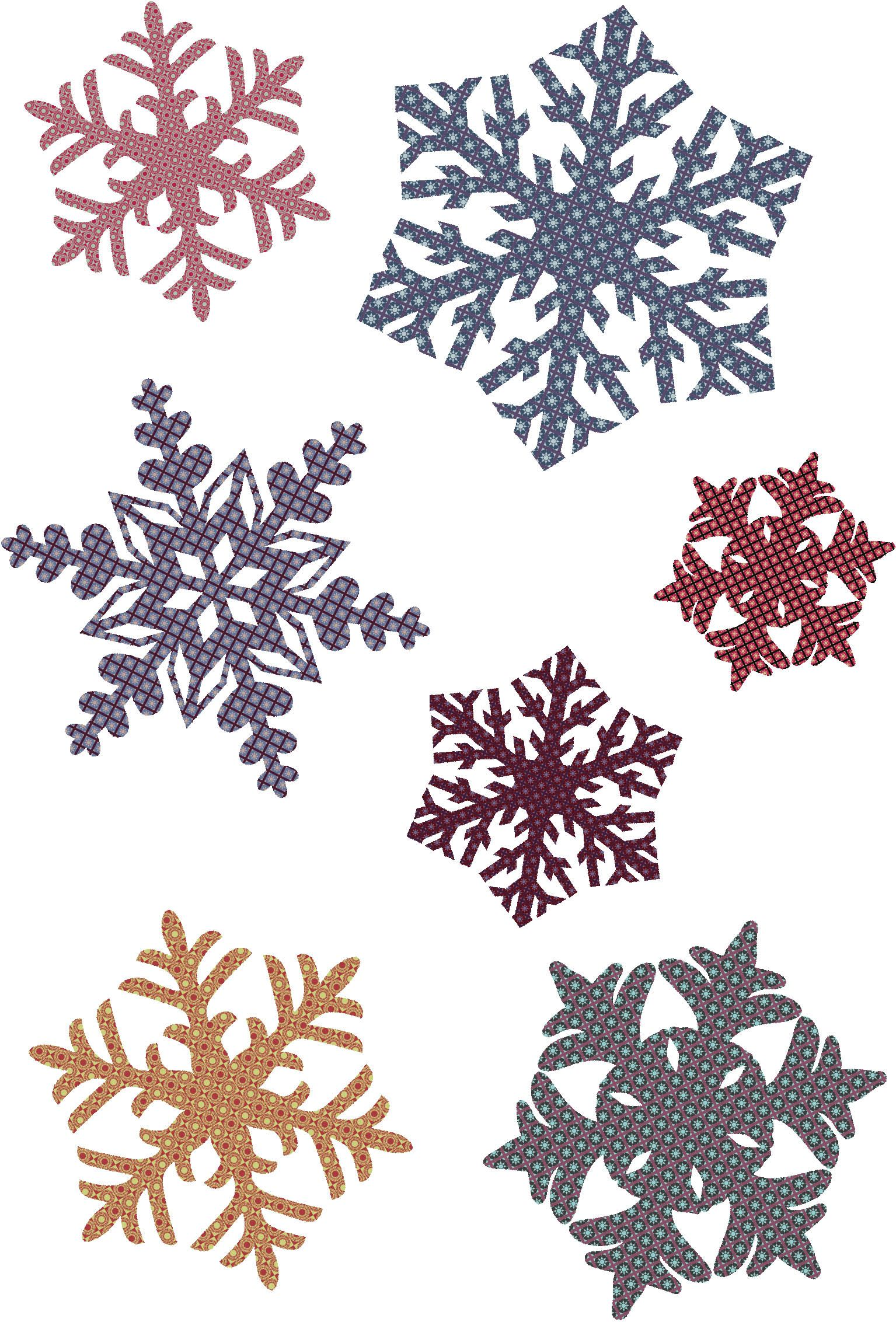 free vector Snowflake patterns vector Free Download via