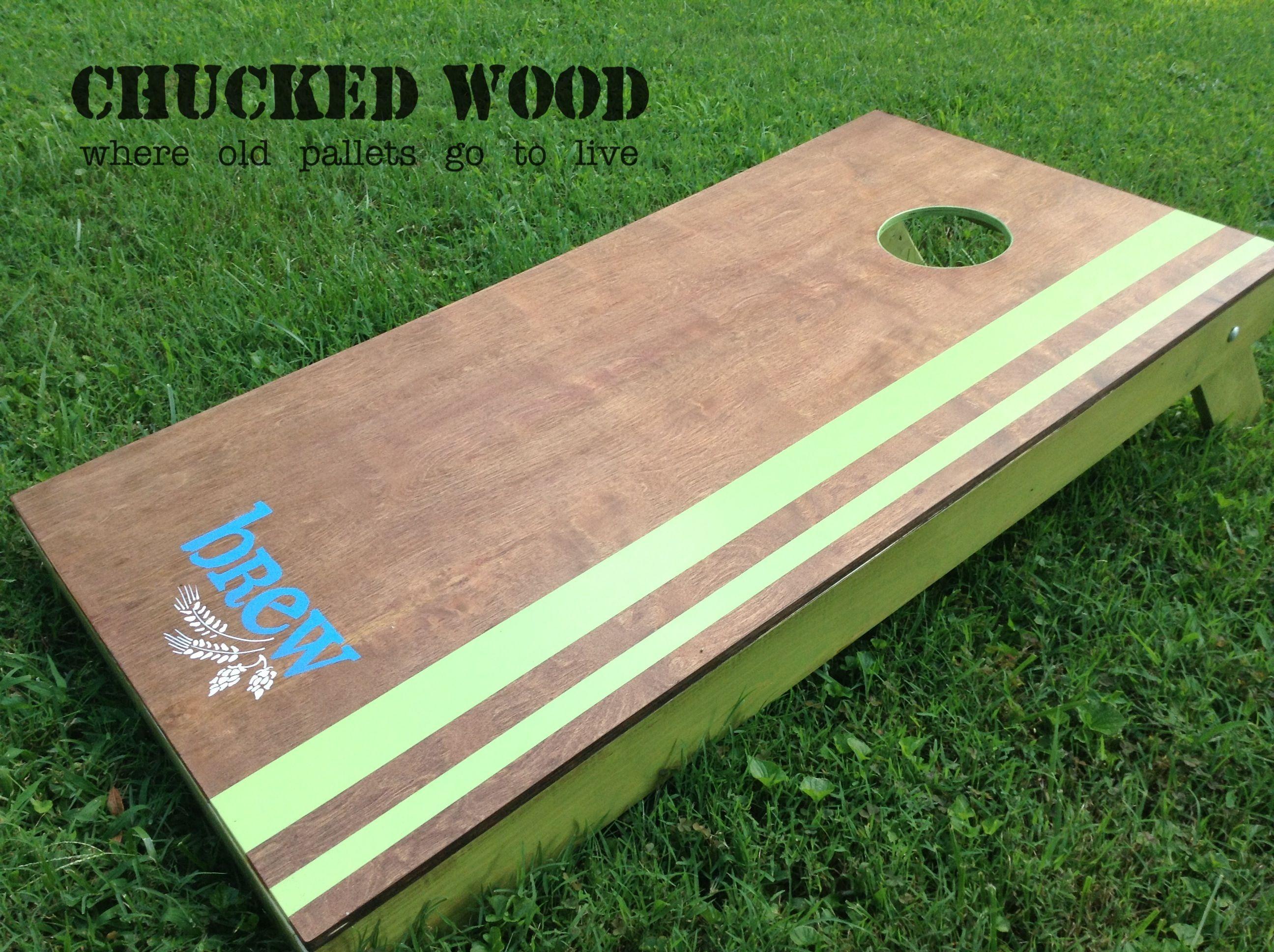 Cornhole Board Pallet Wood Slats Chucked