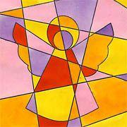 Engel - Modern Art #spinnennetzbasteln