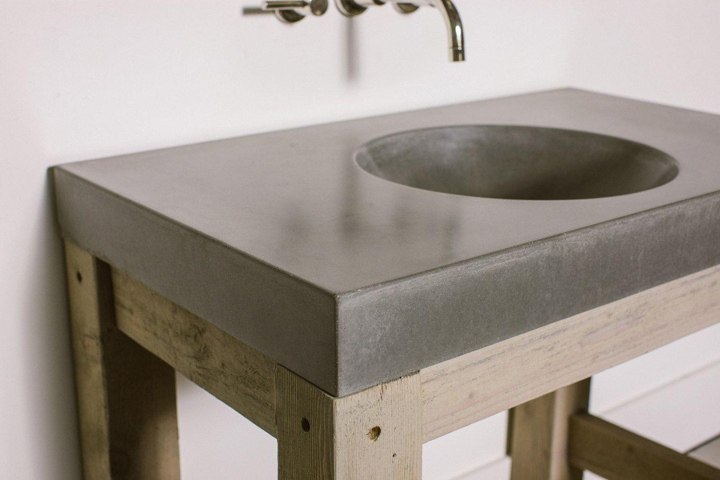 Concrete Sinks orb sink - concrete wave design | concrete countertops, fireplaces